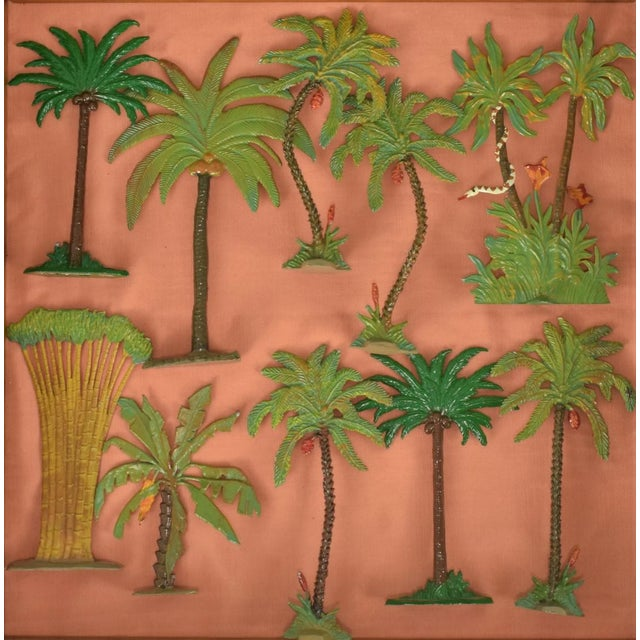 Vintage Mid-Century Hand-Painted Palm Trees - Set of 10 For Sale - Image 11 of 11