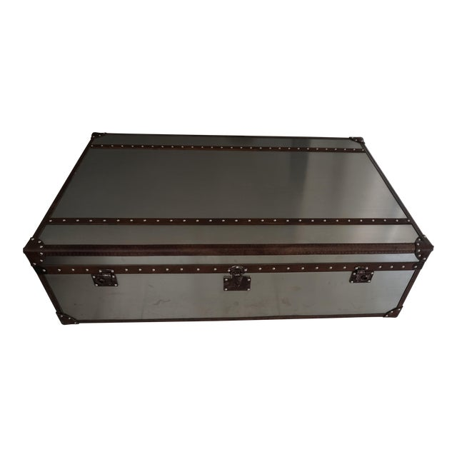 Restoration Hardware Mayfair Steamer Trunk Extra Large