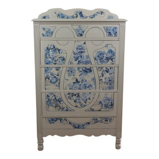 1930s Shabby Chic Farmhouse Depression Era Dresser For Sale