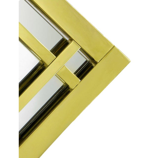 Mid-Century Modern Brass Double Framed Mirror in the Style of Pierre Cardin For Sale - Image 3 of 5