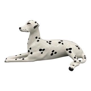 20th Century Italian Chelsea House Port Royal Porcelain Dalmatian Dog Figurine For Sale