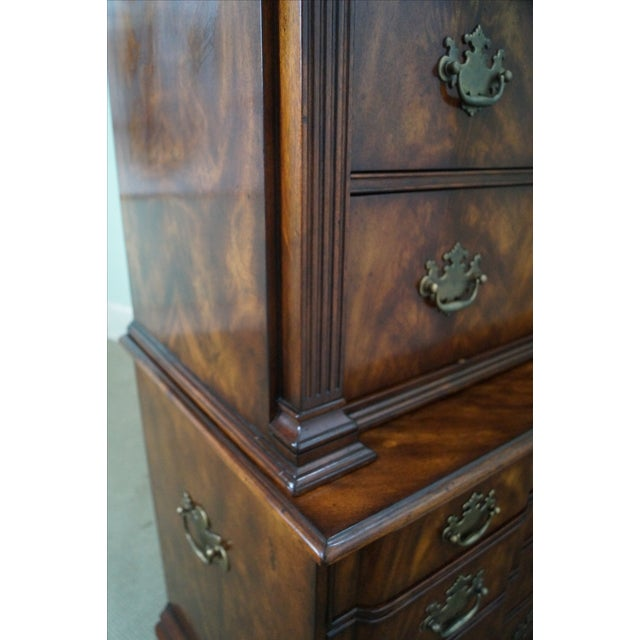 Theodore Alexander Mahogany Chippendale Highboy - Image 8 of 10