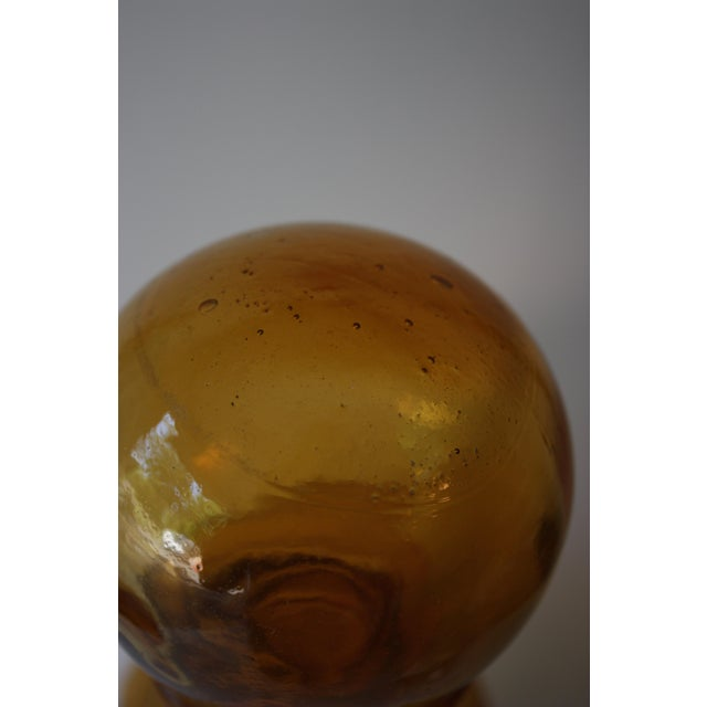 Mid-Century Gold Glass Decanter - Image 4 of 4