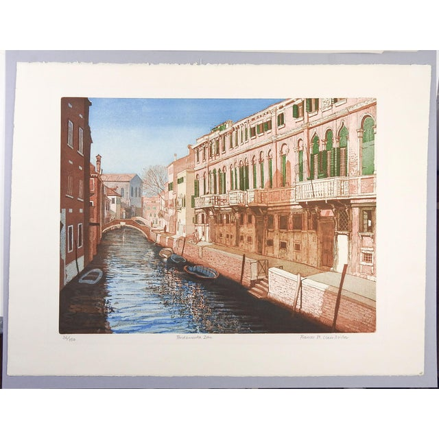 F. St. Clair Miller Venice Italy Etching - Image 5 of 5