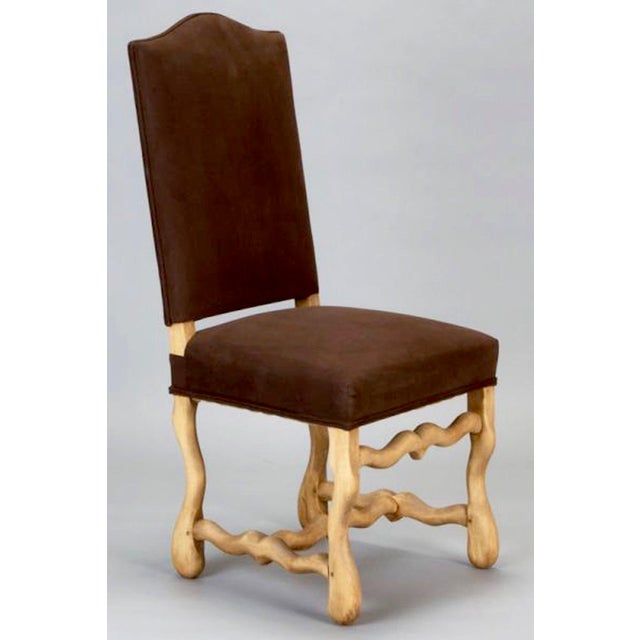 Set of 6 Bleached Oak Wood Os Du Mouton Dining Chairs For Sale In Detroit - Image 6 of 8