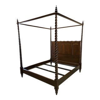 Traditional Dessin Fournir/Kerry Joyce Barley Twist Cal King Bedframe For Sale