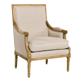 Audley Club Chair in Beige For Sale