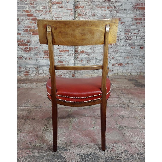 Animal Skin 1820s Vintage George IV Mahogany Arm Chairs-Set of 4 For Sale - Image 7 of 10