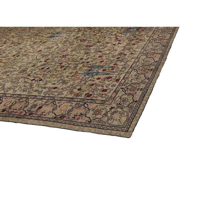 Antique Indian Agra Rug With With Modern Style In Pastel
