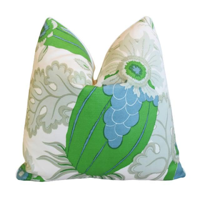 2010s Christopher Farr Carnival Green Pillow Covers- Set of 4 For Sale - Image 5 of 7