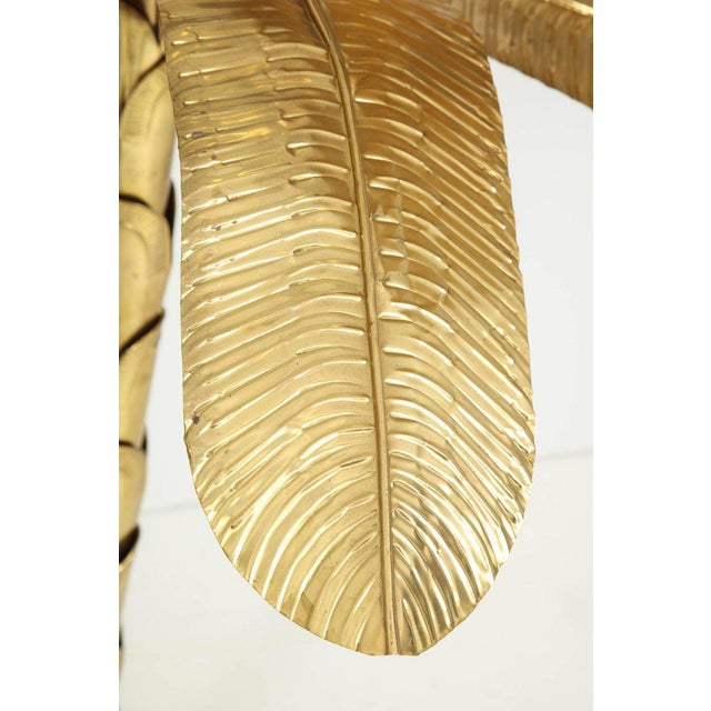 1970s Vintage Brass Banana Tree Sculpture For Sale - Image 10 of 11