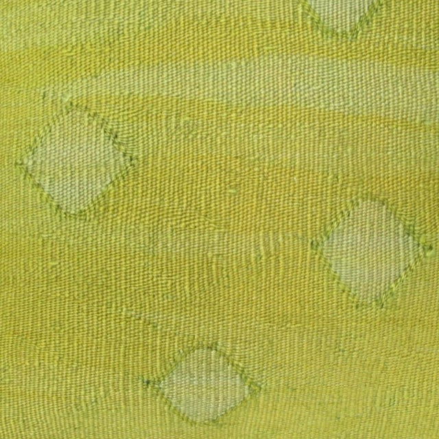 Chartreuse Kilim Pillow - Image 2 of 2
