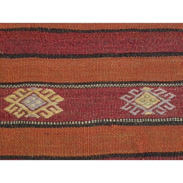 Textile Banded Kilim For Sale - Image 7 of 7