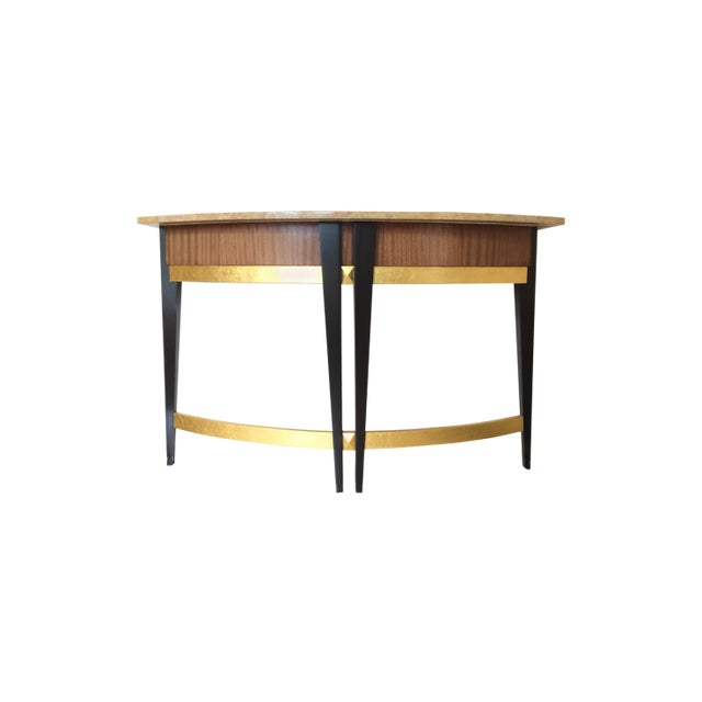 Art Deco Baker Furniture Company Marble Top Console Table For Sale In Los Angeles - Image 6 of 6
