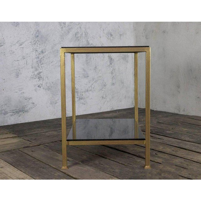 Marcelo Iron End Table With Polished Granite Surface For Sale - Image 4 of 11