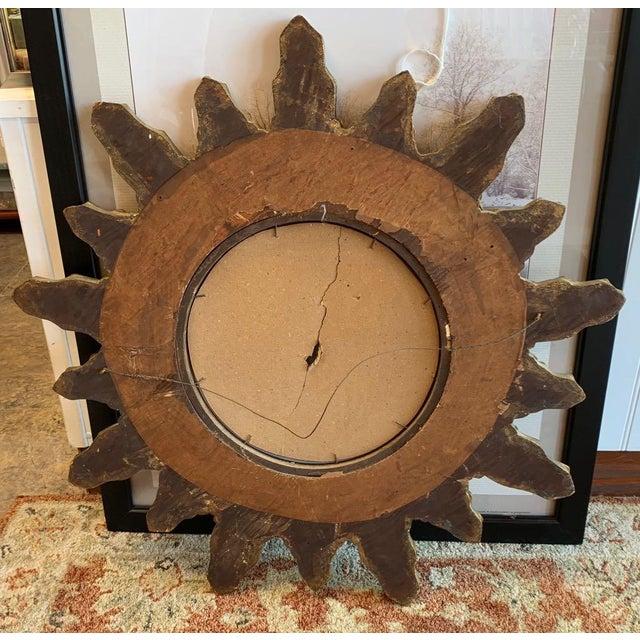 Gesso Louis XIV Sunburst Mirror For Sale - Image 7 of 8