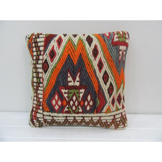 Embroidered Kilim Pillow For Sale - Image 4 of 4