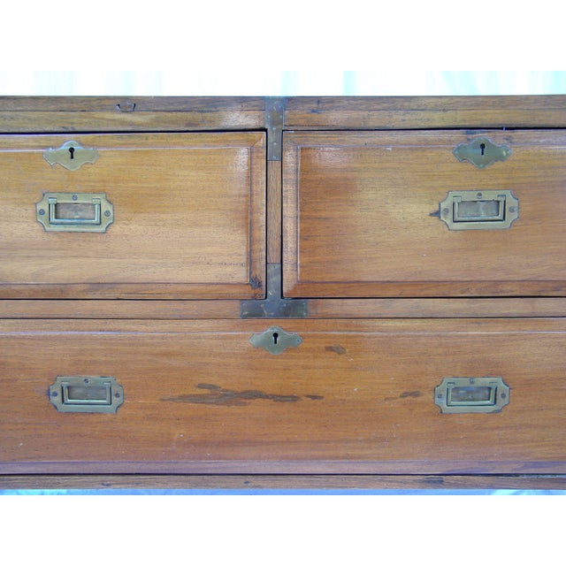 Antique Anglo-Indian Campaign Chest - Image 3 of 10