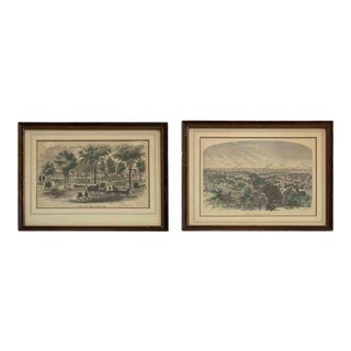 Antique Turn of the Century Traditional Prints - a Pair For Sale