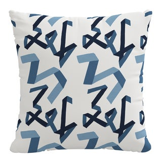 Pillow in Navy Ribbon by Angela Chrusciaki Blehm for Chairish