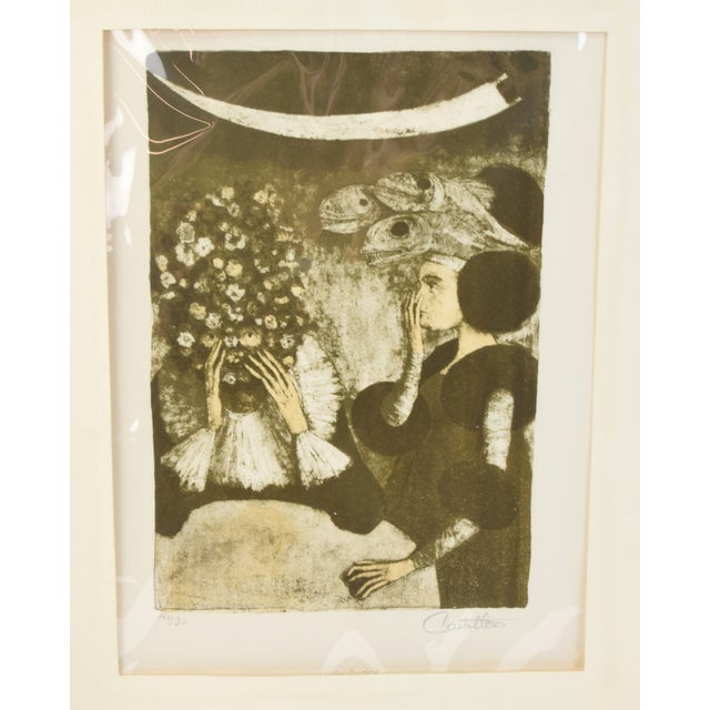 """Surrealism Federico Castellon the Giddiest Grew Pale """"Mask of the Red Death"""" by Poe Lithograph For Sale - Image 3 of 12"""