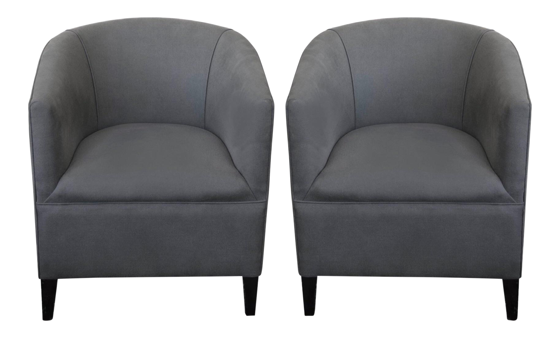 Superieur Circa 1930u0027s Grey English Tub Chairs   A Pair