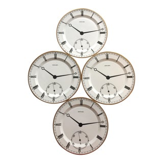 Pocketwatch Chargers by Ralph Lauren Home - Set of 4 For Sale