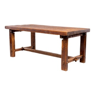 Early 19th Century French Rustic Farm Table For Sale