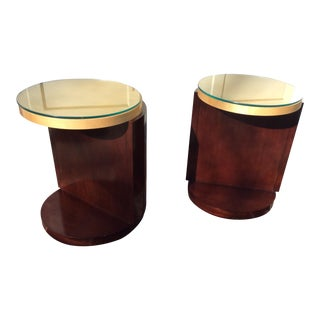 Modern Art Deco Style Side Tables - a Pair For Sale