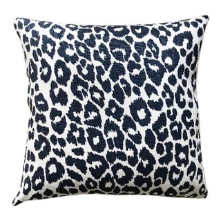 Contemporary Schumacher Iconic Leopard Pillow For Sale