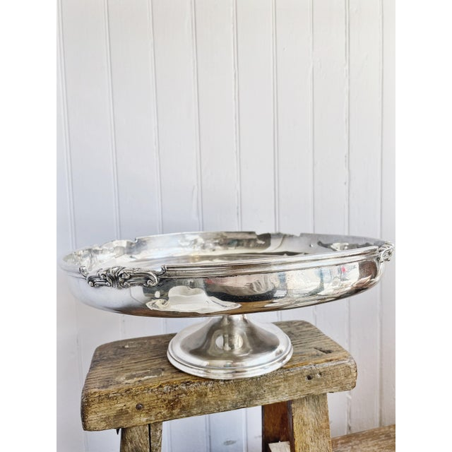 Silver Antique Silver Plated Dessert Stand From the Willard Hotel in Washington DC For Sale - Image 8 of 10