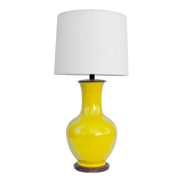 Acid Yellow Ceramic Lamp For Sale