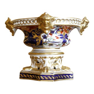 Early 19th Century Derby Potpourri Urn With Gilt Faces