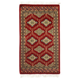"Pasargad DC Pak Bokhara Hand-Knotted Rug - 2' × 3'5"" For Sale"