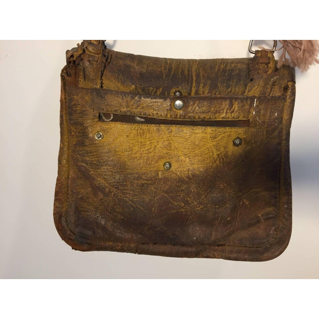 Leather African Moroccan Shoulder Bag For Sale - Image 7 of 10