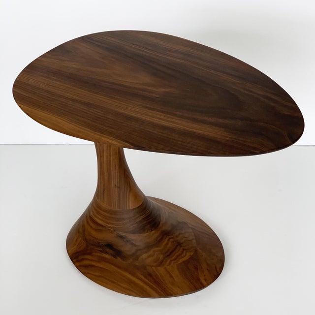 """Sculptural Solid Walnut """"Pedem"""" Side Table Morten Stenbaek - A Pair For Sale - Image 4 of 13"""