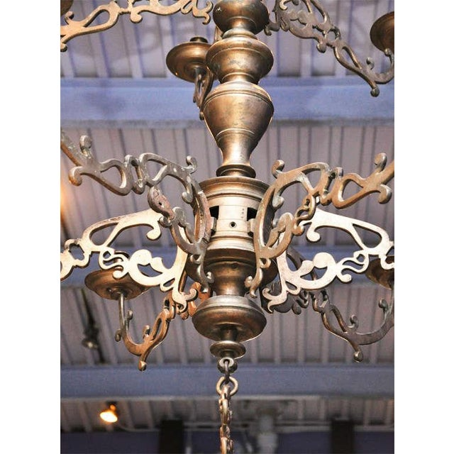 Spanish Bronze Chandelier - Image 5 of 7