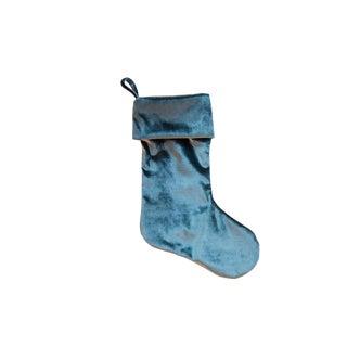 Made in Usa Velvet Stocking Teal For Sale