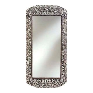 Transitional Long Handcut Glass Rectangular Mirror For Sale