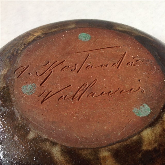 Alexandre Kostanda French Art Pottery Bowl - Image 11 of 11