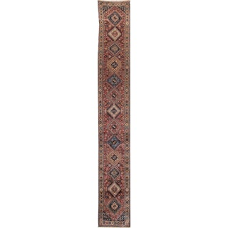 Early 20th Century Antique Bakhtiari Wool Runner For Sale