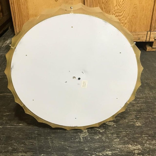 Large-Scale Lucite and Glass Flush Mount by Sirmos For Sale - Image 9 of 10