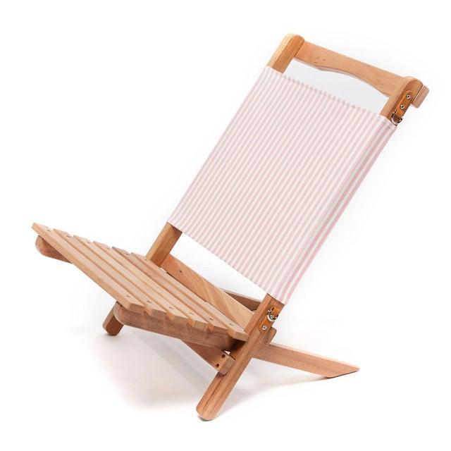 2020s 2 Piece Outdoor Chair - Lauren's Pink Stripe For Sale - Image 5 of 5