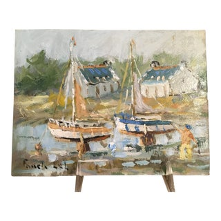 Modern French Original Oil Painting by Fanch Lel For Sale