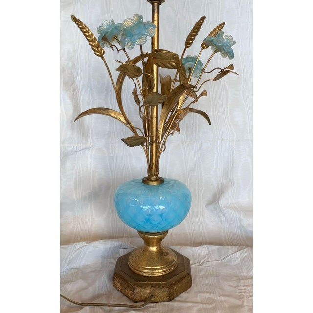 Mid 20th Century Murano Floral Bouquet Lamp For Sale In Tampa - Image 6 of 11