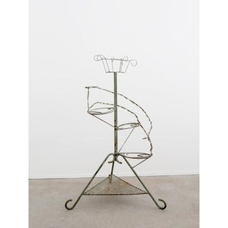 Vintage Tiered Metal Plant Stand Display Preview