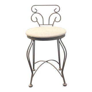 Wrought Iron Vanity Stool For Sale