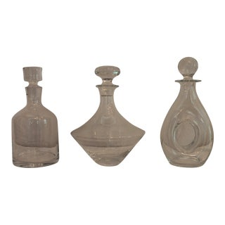 Stella Glass Decanters - Set of 3 For Sale