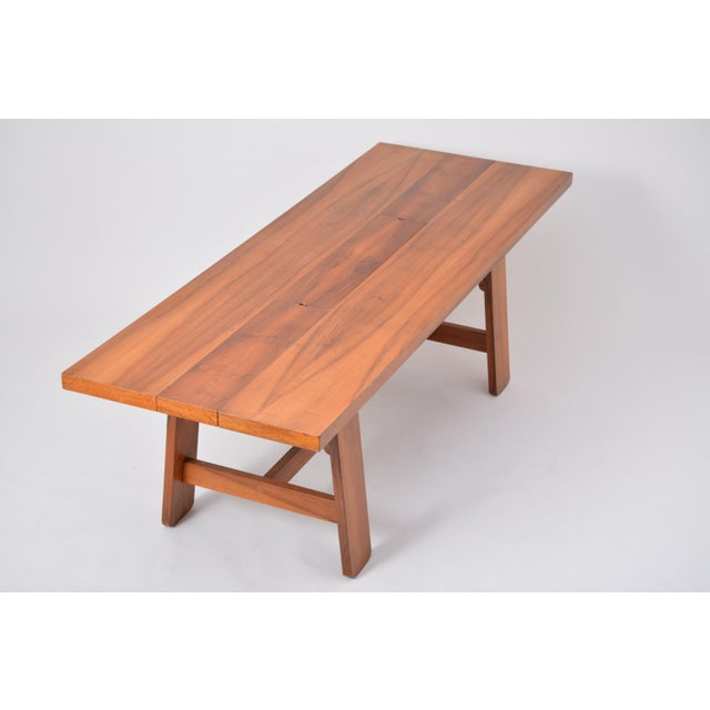 Mid 20th Century Large Dining Table in Walnut Veneer by Silvio Coppola, Bernini, Italy, 1964 For Sale - Image 5 of 12