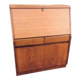 Image of Vintage Mid-Century Modern Teak Secretary/Desk For Sale